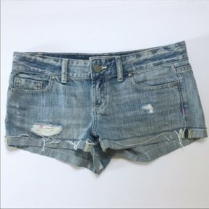 PINK Victoria's Secret Distressed Denim Shorts 2
